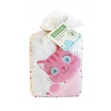 Полотенце для купания розовое Bobobaby, PEL-M