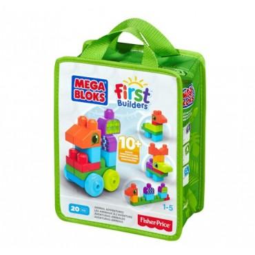 Mega Bloks конструктор серии First Builders «Приключения животных», CNH08