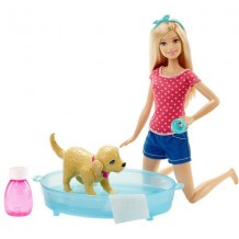 "Кукла Barbie ""Веселое купание щенка"", DGY 83"