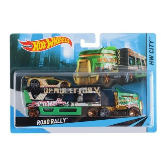 Машина далекобійника Road Rally Hot Wheels, BDW51