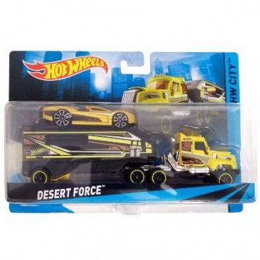 Машина дальнобойщика Desert Force Hot Wheels, BDW51