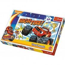 Пазл Trefl Maxi Блейз и машинки-монстры, 24 эл., 14244