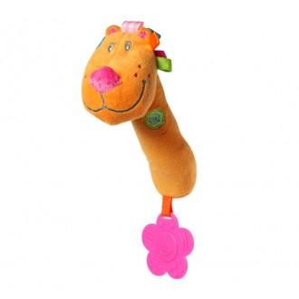 """Іграшка-пищалка з прорізувачем """"Веселий лев"""", 1103"""