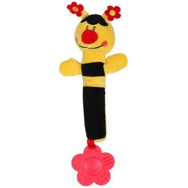 """Іграшка-пищалка з прорізувачем """"Бджілка"""" мала, 993R"""
