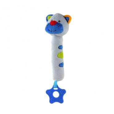 """Іграшка-пищалка з прорізувачем """"Доброзичливий котик"""", 1303"""