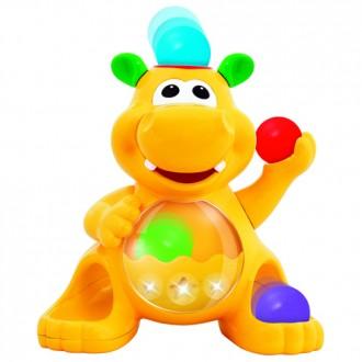"Іграшка-сортер Kiddieland ""Гіпопотам-жонглер"", 049890"