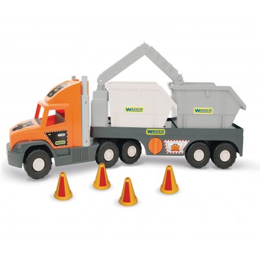 Super Tech Truck Грузовик со строительными контейнерами, 36760