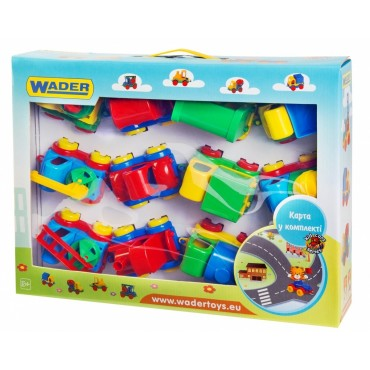 "Іграшкова машинка авто Wader ""Kid Cars"" 12 шт, 39243"