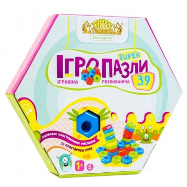 """Розвиваюча іграшка Тигрес """"Ігропазли Super"""" 39 ел., 39315"""