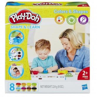 """Набір Play-Doh """"Моделюй та навчайся. Кольори та форми"""", B3404"""