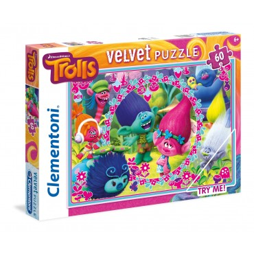 "Пазл Velvet SuperColor Clementoni ""Тролі"", 60 ел., 20138"