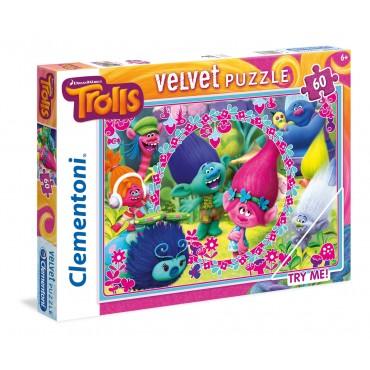 "Пазл Maxi Velvet SuperColor Clementoni ""Тролли"", 60 ел., 20138"