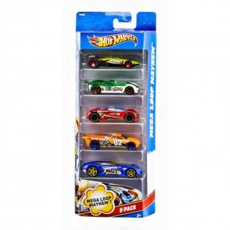 Машинки Подарунковий набір автомобілів (5 штук) Hot Wheels (1806)