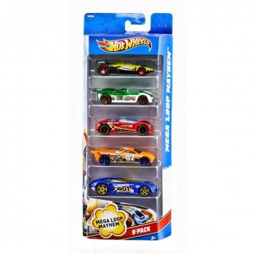 Машинки Подарочный набор автомобилей (5 штук) Hot Wheels (1806)