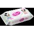 """Детские влажные салфетки Antibacterial из пластиковых клапаном """"Микки и Минни"""" 60 шт, Smile, 626773"""