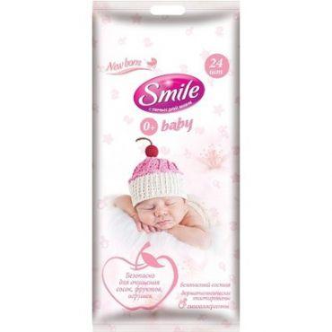 Вологі серветки «Smile Baby для новонароджених», Smile, 672799