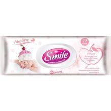 Влажные салфетки с пластиковым клапаном «Smile Baby для новорожденных»72шт, Smile, 617870
