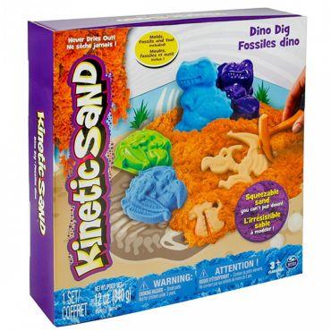 """Ігровий набір для творчості Kinetic sand """"Dino Dig"""" 340 г, 71415"""