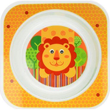 Пластмасовая детская глубокая тарелочка akuku, A0277