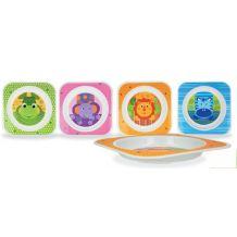 Пластмасовая детская тарелочка akuku, A0278