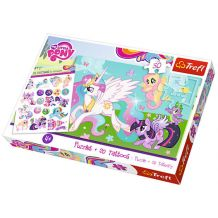 Пазл My little pony, 50 эл.+тату в подарок, Trefl, 90555
