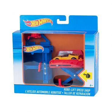 """Игровой набор """"Робомастерская с лифтом"""", Hot Wheels, DWK99/DWL02"""