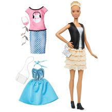 """Кукла Barbie Модница с набором одежды высокая высокая """"Кожа и оборки"""", DTD96/DTF07"""