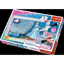 """Пазл """"В поисках туфельки"""" Disney Princess, 70ел. + Магический маркер в подарок, Trefl, 75112"""