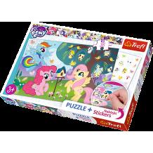 """Пазл """"Поні та дерево птахів"""" My Little Pony, 35ел. + наклейки в подарунок, Trefl, 75116"""