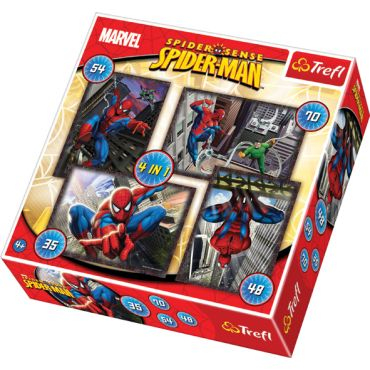 "Набір з 4 пазлів Trefl ""Spiderman"", 35+48+54+70ел., 34120"