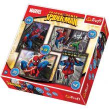 """Набор из 4 пазлов Trefl """"Spiderman"""", 35 + 48 + 54 + 70ел., 34120"""