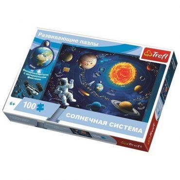 """Пазл навчальний """"Сонячна система"""" 100ел., Trefl, 15529"""