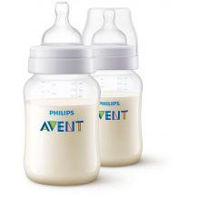 Набор из 2 бутылочек для кормления Classic+, 0+ мес, 260мл, Avent, SCF563/27
