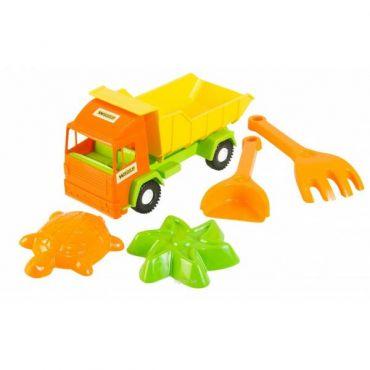 Самосвал Middle truck с набором для песка 4 эл., 39157