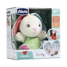 """Мягкая музыкальная игрушка """"Кролик Флаффи"""", chicco, 07930"""