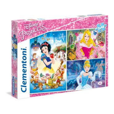 """Набор пазлов SuperColor Clementoni """"Принцессы Дисней"""", 3х48 эл, 25211"""