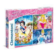 "Набір пазлів SuperColor Clementoni ""Принцеси Дісней"", 3х48 ел, 25211"