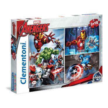 "Набор пазлов SuperColor Clementoni ""Мстители"", 3х48 эл, 25203"