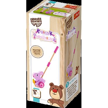 """Дерев'яна іграшка-каталка """"Кролик мандрівник"""", Trefl, 60660"""