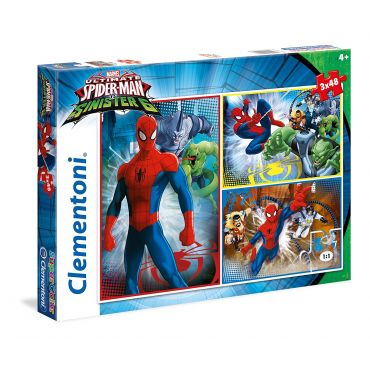 """Набор пазлов SuperColor Clementoni """"Spiderman"""", 3х48 ел, 25217"""