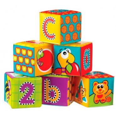 Іграшка-кубик м'який 6 шт., 183838