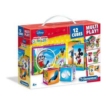 Кубики Мікі Маус 12 шт., Clementoni, 41502