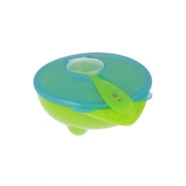 Тарелочка-контейнер с ложкой akuku, 4+, A0255