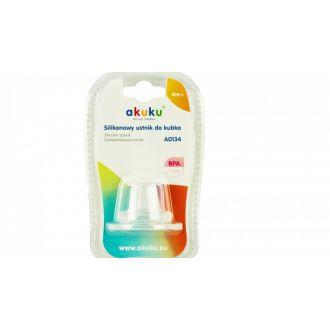Силіконовий носик 4+ для поїльника A0134 і пляшечок з широким отвором, akuku, A0176