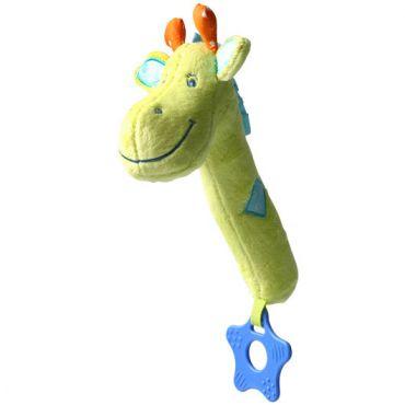 """Іграшка-пищалка з прорізувачем """"Жираф"""", Babyono, 997"""