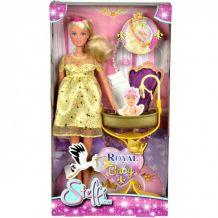 Лялька Штеффі вагітна з люлькою для малюка Steffi & Evi, 5737084