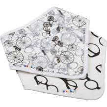 Нагрудник-шейный платок на липучке велосипеды / очки, akuku, A1474
