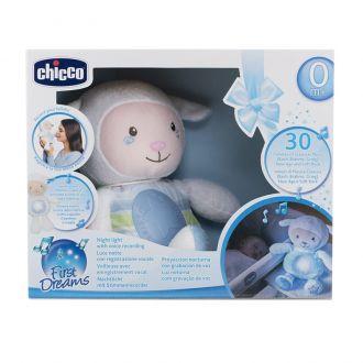 """Іграшка - нічник """"Овечка"""" блакитна Chicco, 909020"""