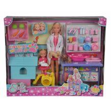 """Кукольный набор """"Штеффи и Эви Ветеринарная клиника с животными и аксес."""" Steffi Love, 5733040"""