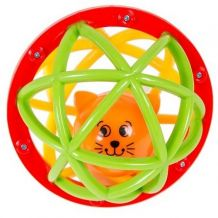 Мячик-погремушка Шустрый котенок Kiddieland, 049858